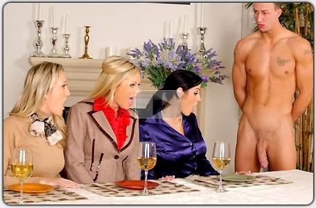 from Jay naked men eating dinner